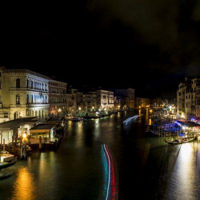Desdes el puente Rialto noche