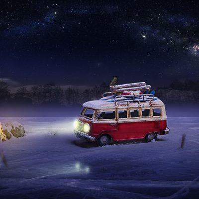 Camioneta nevada
