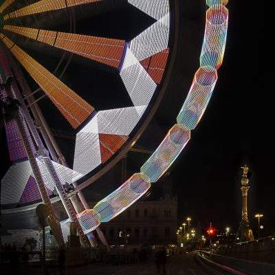 Barcelona, Noria navidad en Colon